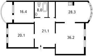 Квартира Оболонская набережная, 19, Киев, F-22971 - Фото2