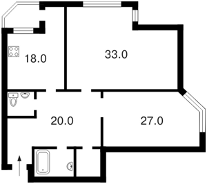 Квартира Гетьмана Вадима (Индустриальная), 1а, Киев, Z-817478 - Фото2