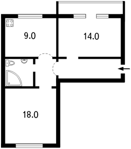 Квартира Хмельницкого Богдана, 23, Киев, I-5157 - Фото2