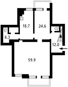 Квартира Городецького Архітектора, 10/1, Київ, I-5873 - Фото2