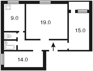 Квартира Хмельницкого Богдана, 68, Киев, B-47442 - Фото2