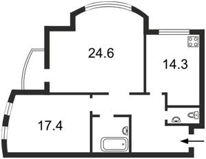 Квартира Лобановского просп. (Краснозвездный просп.), 126г, Киев, Z-870520 - Фото2