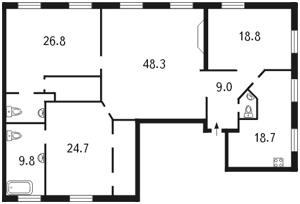 Квартира Первомайского Леонида, 4, Киев, B-81778 - Фото2