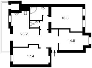Квартира Гончара О., 67, Київ, Z-583490 - Фото2