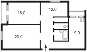 Квартира Антоновича (Горького), 110, Киев, B-71508 - Фото 2