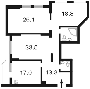 Квартира Чорновола Вячеслава, 20, Київ, B-79100 - Фото 2