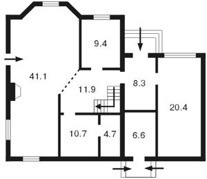 Дом Луговая, Козин (Конча-Заспа), D-12938 - Фото2