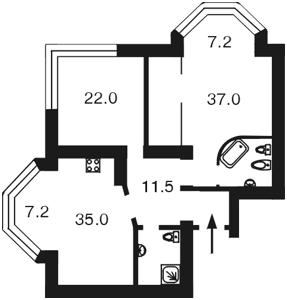 Квартира Героев Сталинграда просп., 24а, Киев, Z-593337 - Фото2