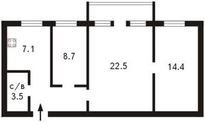 Квартира Большая Житомирская, 6/11, Киев, Z-593724 - Фото2
