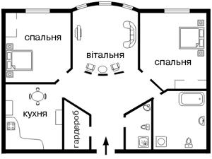 Квартира Волошская, 50/38, Киев, F-5957 - Фото2