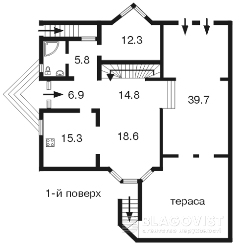 Дом D-13241, Крутогорная, Киев - Фото 1