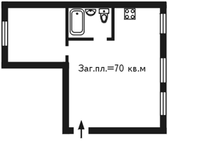 Квартира Бойчука Михайла (Кіквідзе), 2/34, Київ, N-550 - Фото2