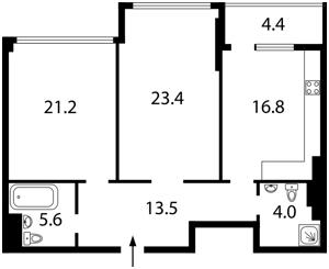 Квартира Драгомирова Михаила, 14, Киев, E-31267 - Фото2