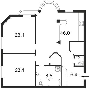 Квартира Котельникова Михаила, 33, Киев, Z-1415481 - Фото2