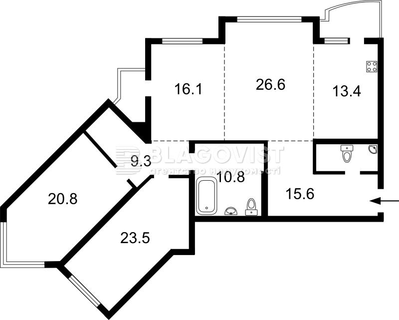Квартира X-13583, Княжий Затон, 21, Киев - Фото 6