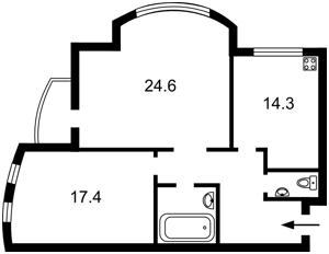 Квартира Лобановського просп. (Червонозоряний просп.), 126г, Київ, Z-1065409 - Фото 2