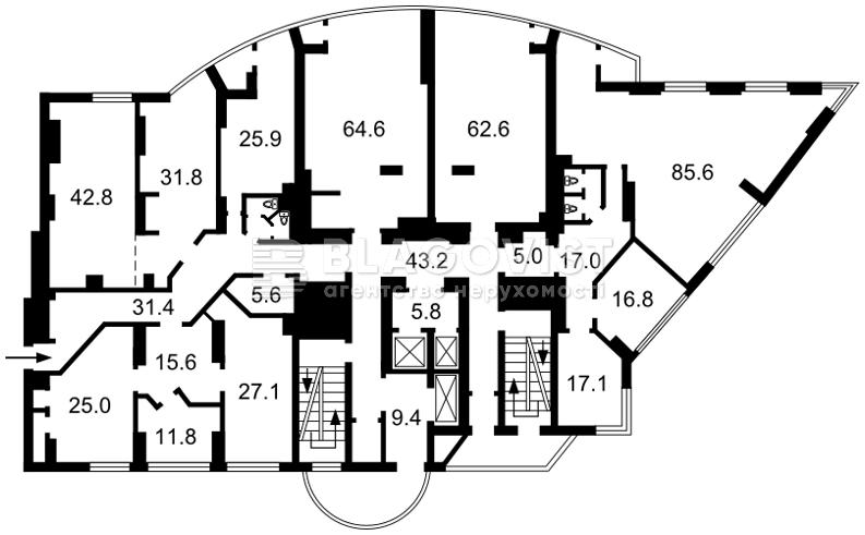 Нежилое помещение, D-32823, Шевченко Тараса бульв., Киев - Фото 2