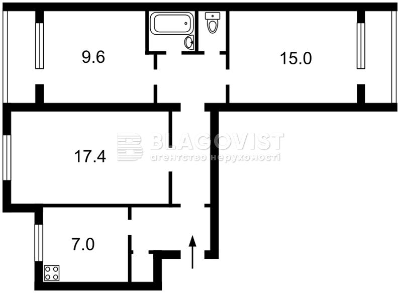 Квартира D-32835, Урловская, 1/8, Киев - Фото 5