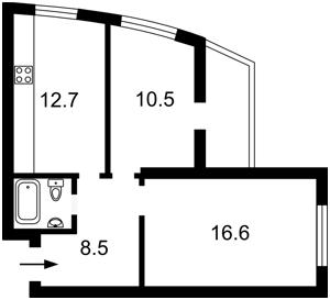 Квартира Наумовича Владимира (Антонова-Овсеенко), 4, Киев, D-32847 - Фото2