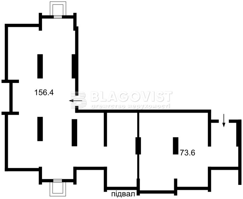Нежилое помещение, A-107842, Максимовича Михаила (Трутенко Онуфрия), Киев - Фото 6