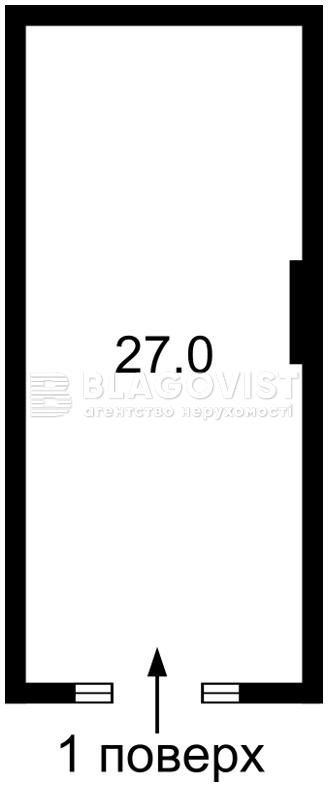 Нежилое помещение, A-107842, Максимовича Михаила (Трутенко Онуфрия), Киев - Фото 7
