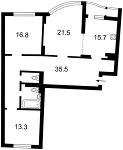 Квартира Урловская, 11/44, Киев, R-8499 - Фото2