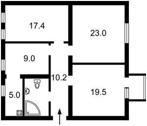 Квартира Антонова Авіаконструктора, 2/32 корпус 1, Київ, A-107847 - Фото 2