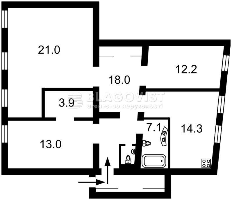 Квартира R-7904, Толстого Льва, 8, Киев - Фото 3