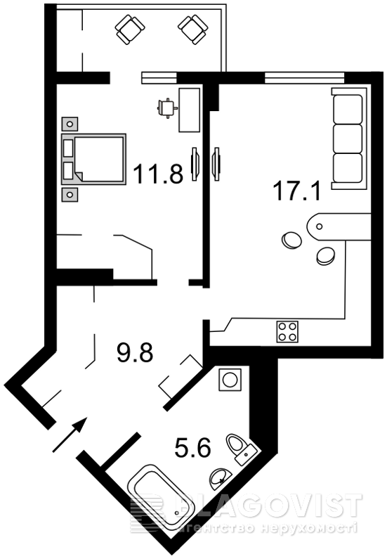 Квартира R-9631, Семьи Кульженко (Дегтяренко Петра), 35, Киев - Фото 6