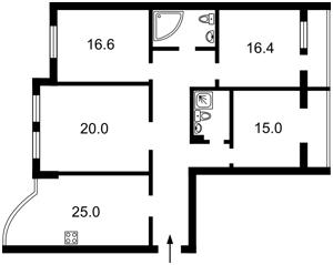 Квартира Кудряшова, 3, Киев, Z-1281369 - Фото2