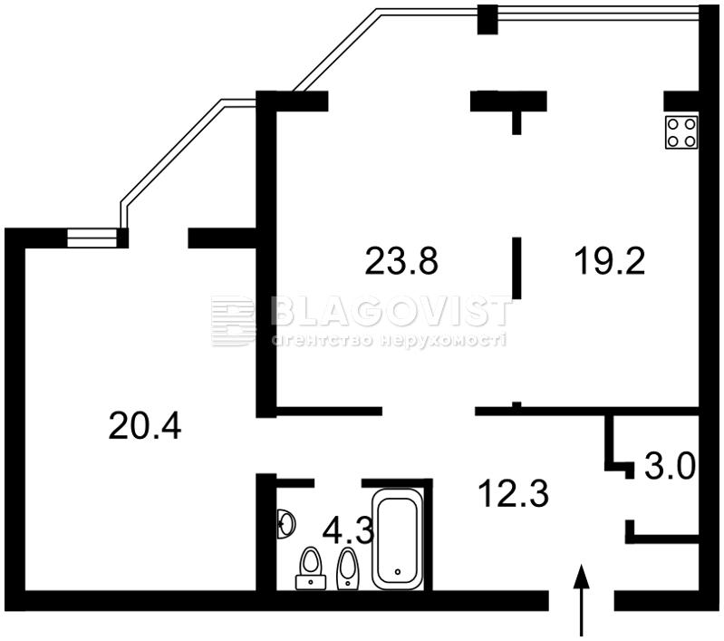 Квартира D-32911, Ломоносова, 54а, Киев - Фото 5