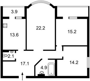 Квартира Ахматовой, 18, Киев, R-9753 - Фото2