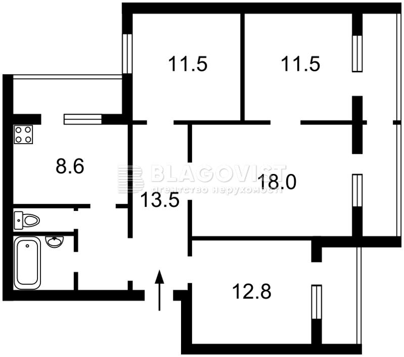Квартира H-40198, Руденко Ларисы, 10а, Киев - Фото 4