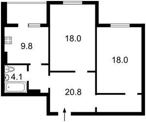 Квартира Олевська, 7, Київ, Z-1827828 - Фото 2