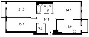 Квартира Коновальца Евгения (Щорса), 36б, Киев, B-76097 - Фото 2