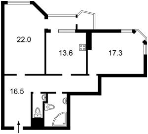 Квартира Кудряшова, 20, Киев, X-36777 - Фото2