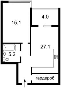 Квартира Джона Маккейна (Кудри Ивана), 7, Киев, Z-172976 - Фото2