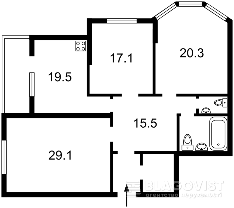 Квартира Z-1426129, Тютюнника Василия (Барбюса Анри), 5в, Киев - Фото 5