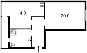 Квартира Винниченка Володимира (Коцюбинського Юрія), 18, Київ, A-107928 - Фото 2
