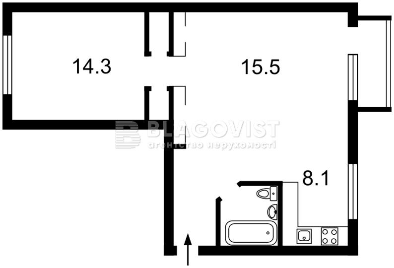 Квартира F-38420, Нищинского Петра, 12 корпус 2, Киев - Фото 3