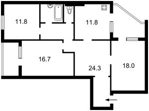 Квартира Котовського, 47, Київ, X-30093 - Фото 2