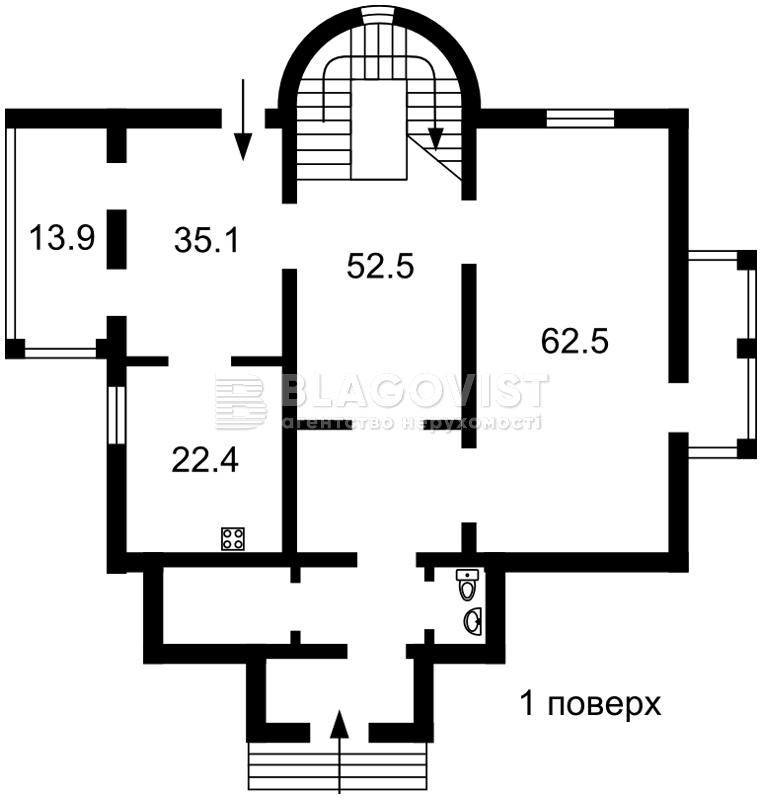 Дом M-32039, Петропавловская Борщаговка - Фото 6