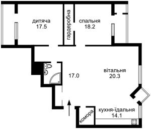 Квартира Гайдара, 27, Киев, C-104175 - Фото 2