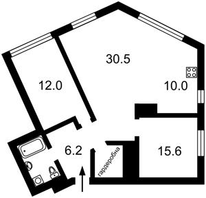 Квартира Липкивского Василия (Урицкого), 16а, Киев, A-107979 - Фото 2