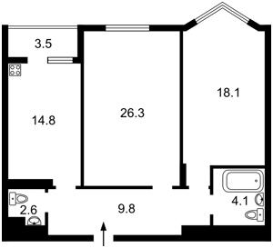 Квартира Мельникова, 51б, Київ, Z-195281 - Фото2