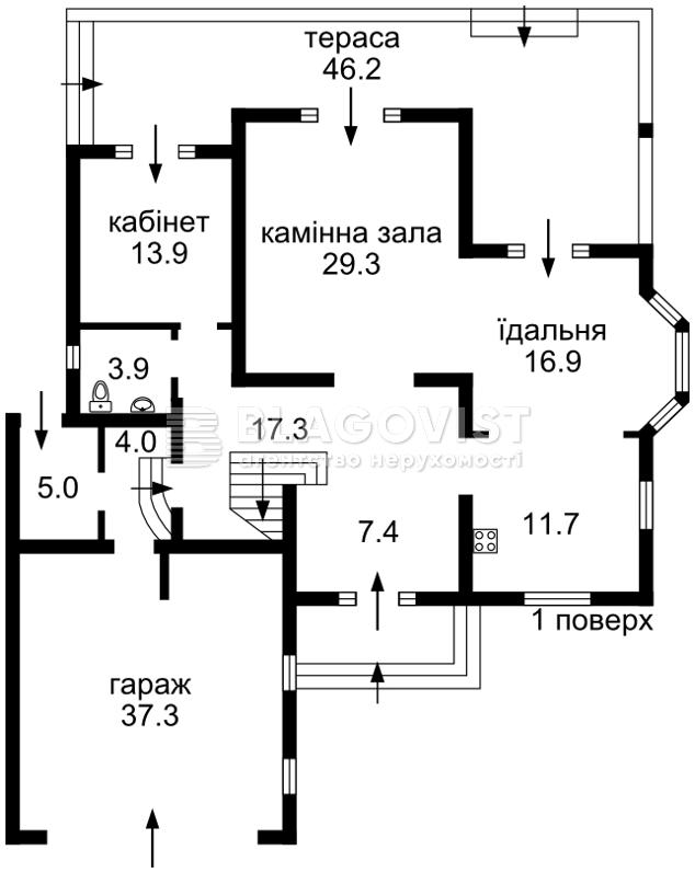 Дом R-10009, Набережная, Вишенки - Фото 4