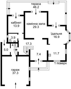 Дом Набережная, Вишенки, R-10009 - Фото 2