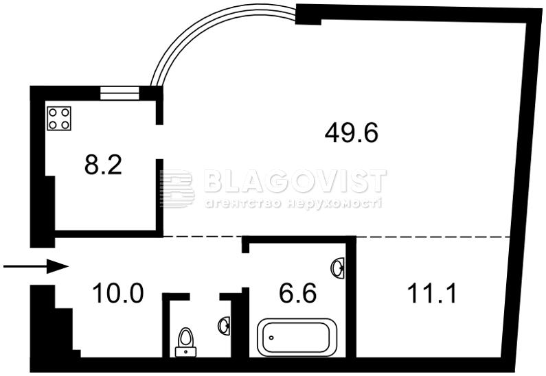 Квартира Z-1882773, Борисоглебская, 16в, Киев - Фото 6