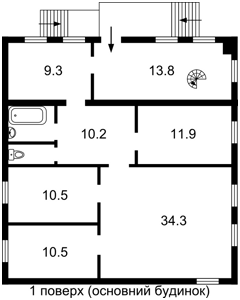 Дом Щорса, Мостище, F-38625 - Фото 2