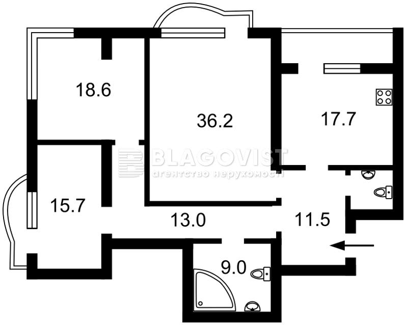 Квартира R-10787, Мельникова, 18б, Киев - Фото 7
